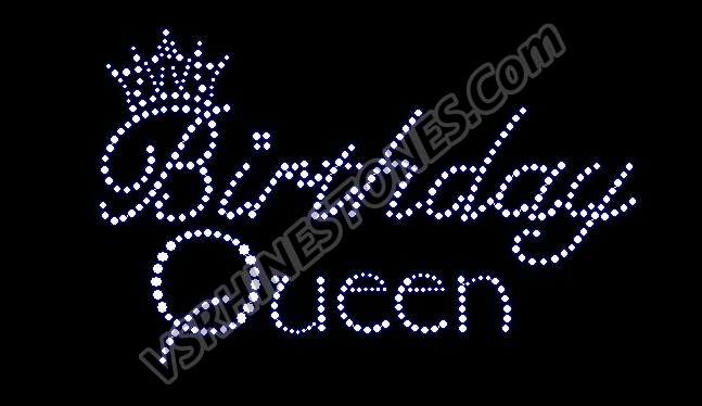 Birthday Queen Rhinestone Transfer